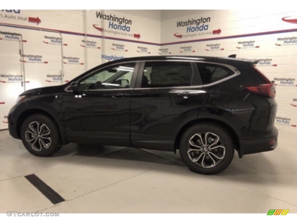 2020 CR-V EX AWD - Crystal Black Pearl / Black photo #2