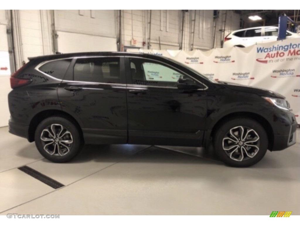 2020 CR-V EX AWD - Crystal Black Pearl / Black photo #4