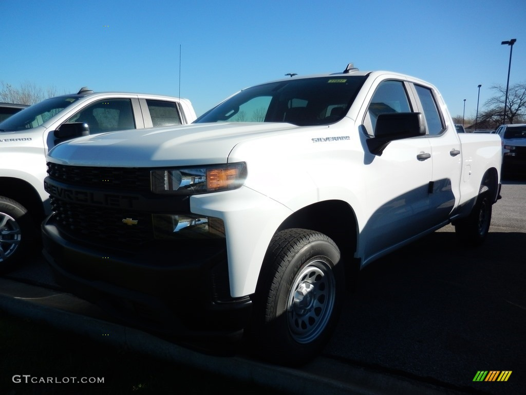 2021 Silverado 1500 WT Double Cab - Summit White / Jet Black photo #1