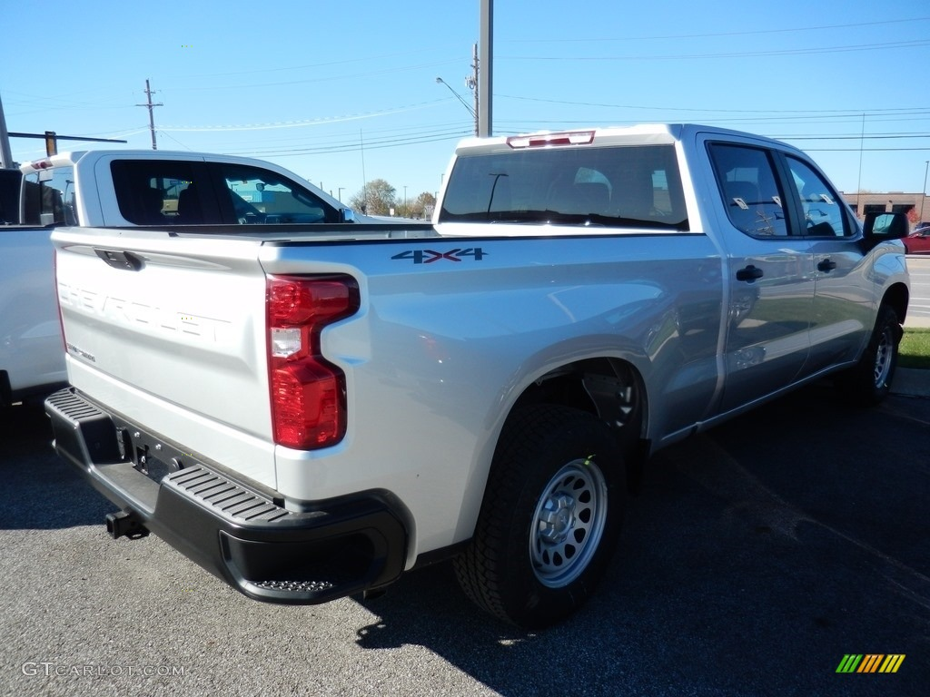 2021 Silverado 1500 WT Crew Cab 4x4 - Silver Ice Metallic / Jet Black photo #4
