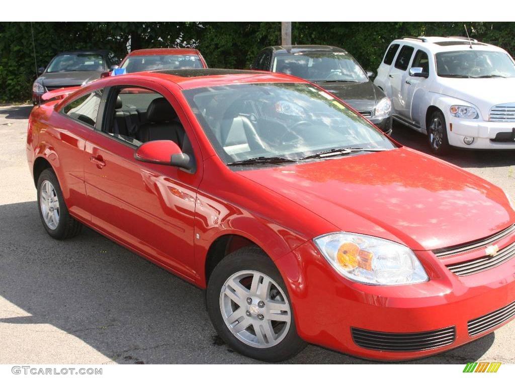 2007 Cobalt LT Sedan - Victory Red / Ebony photo #3
