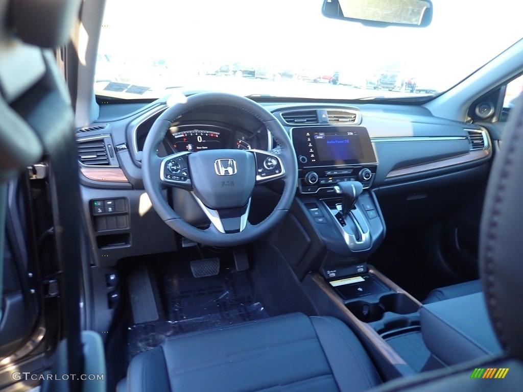 2021 CR-V Touring AWD - Modern Steel Metallic / Black photo #9