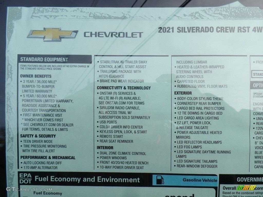 2021 Silverado 1500 RST Crew Cab 4x4 - Silver Ice Metallic / Jet Black photo #52