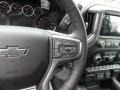 Jet Black Steering Wheel Photo for 2021 Chevrolet Silverado 1500 #140303356