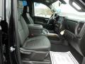2021 Chevrolet Silverado 1500 Jet Black Interior Front Seat Photo