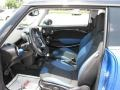 Black/Pacific Blue Interior Photo for 2009 Mini Cooper #14037319