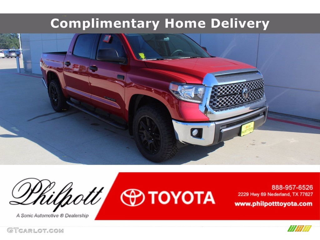 2021 Tundra SR5 Double Cab - Barcelona Red Metallic / Graphite photo #1