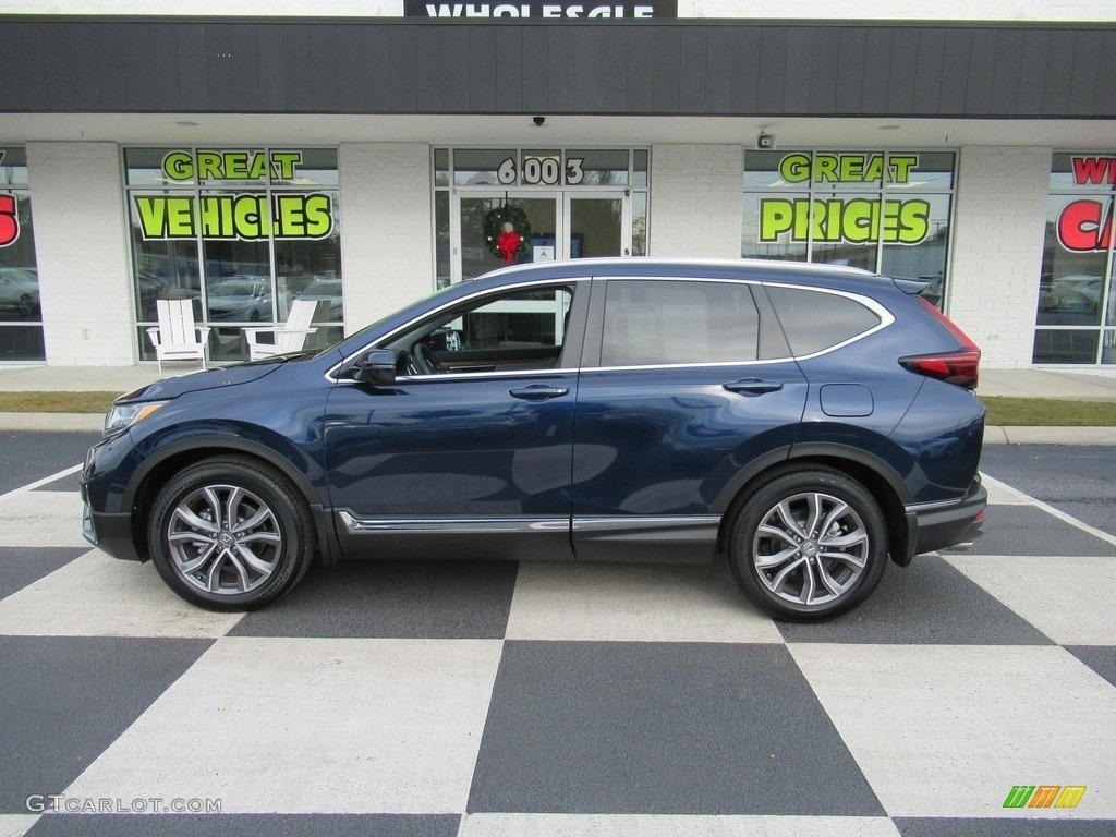 2020 CR-V Touring - Obsidian Blue Pearl / Gray photo #1