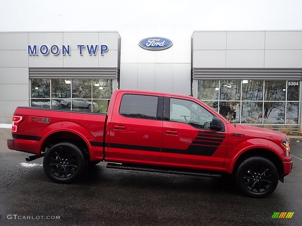2020 F150 XLT SuperCrew 4x4 - Rapid Red / Sport Special Edition Black/Red photo #1