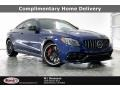 Brilliant Blue Metallic 2021 Mercedes-Benz C AMG 63 S Coupe