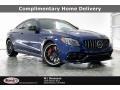 Brilliant Blue Metallic 2021 Mercedes-Benz C AMG 63 S Coupe