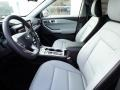 2021 Ford Explorer Ebony Interior Front Seat Photo
