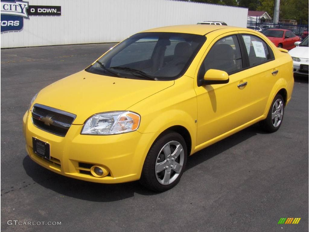 2009 Aveo LT Sedan - Summer Yellow / Neutral photo #1