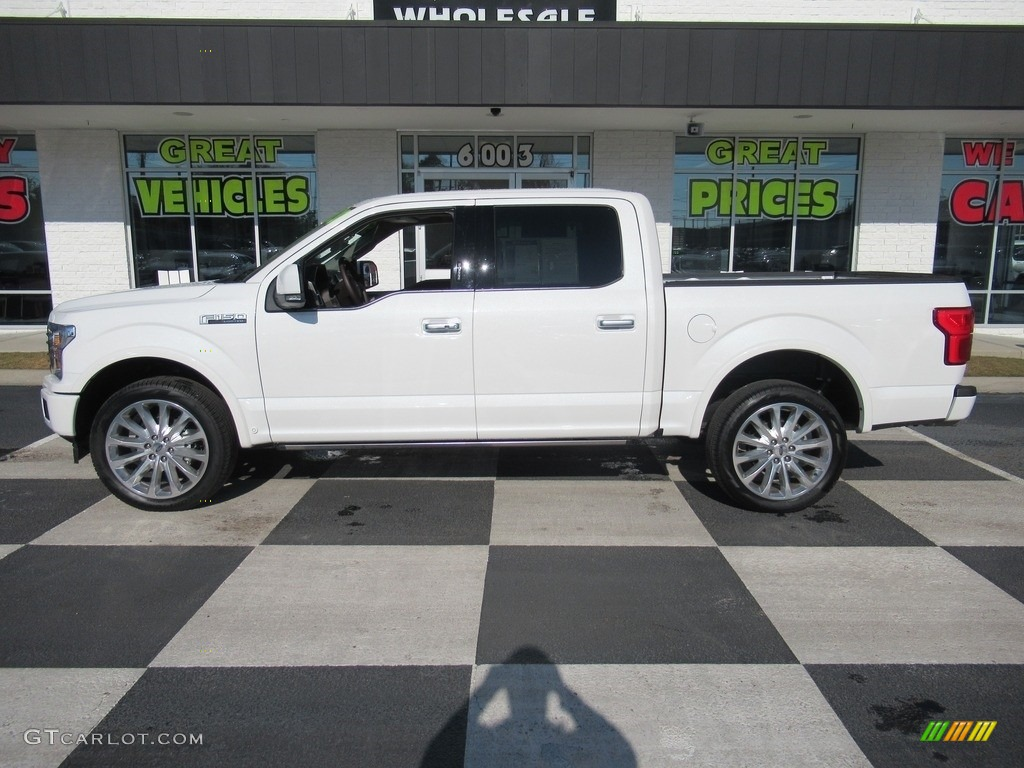 2020 F150 Limited SuperCrew 4x4 - Star White / Limited Unique Camelback photo #1