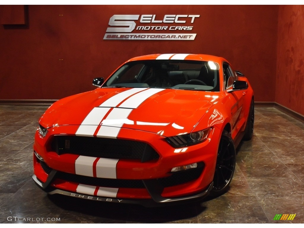 2019 Mustang Shelby GT350 - Race Red / GT350 Ebony Recaro Cloth/Miko Suede photo #1