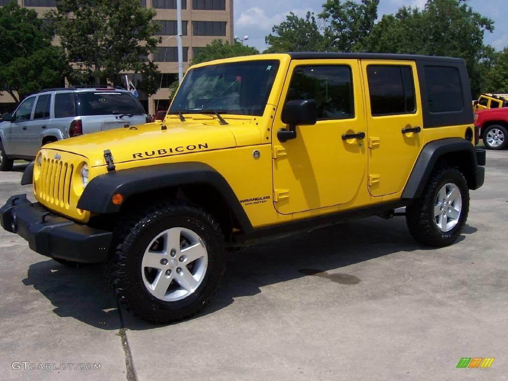 2008 Detonator Yellow Jeep Wrangler Unlimited Rubicon 4x4