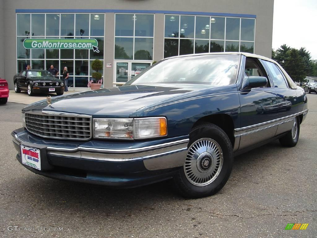 1995 dark calypso green metallic cadillac deville sedan 14111222 gtcarlot. Cars Review. Best American Auto & Cars Review