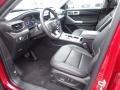 2021 Ford Explorer Ebony Interior Front Seat Photo