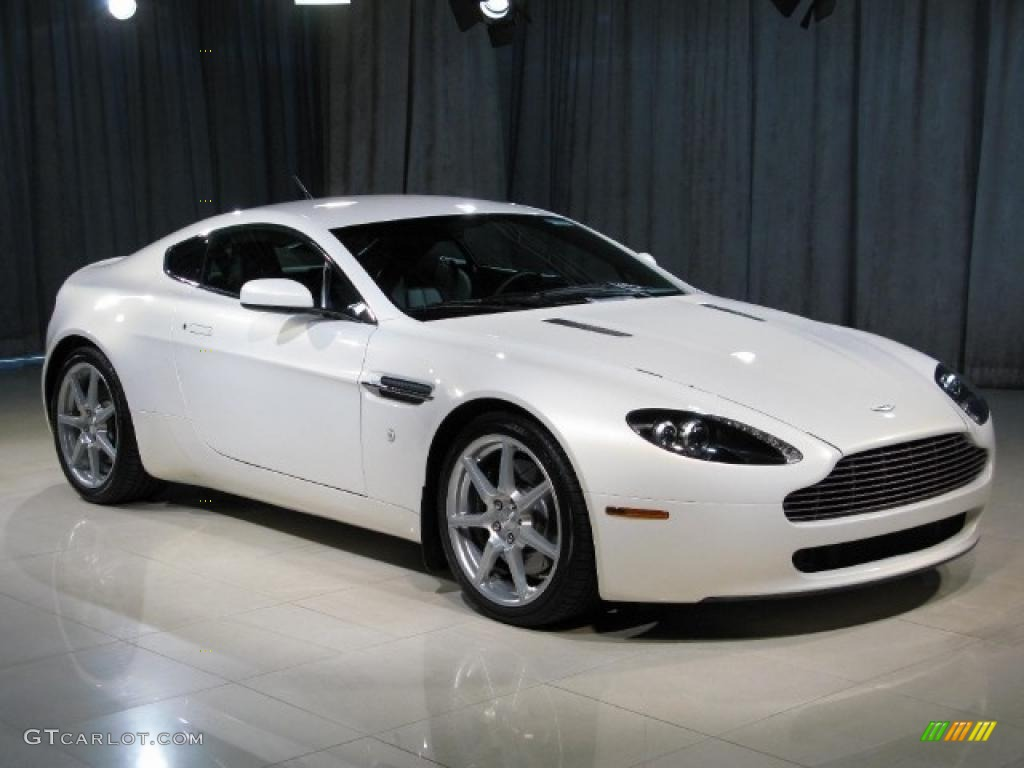 2007 Metallic White Aston Martin V8 Vantage Coupe 14165110 Photo 19 Gtcarlot Com Car Color Galleries