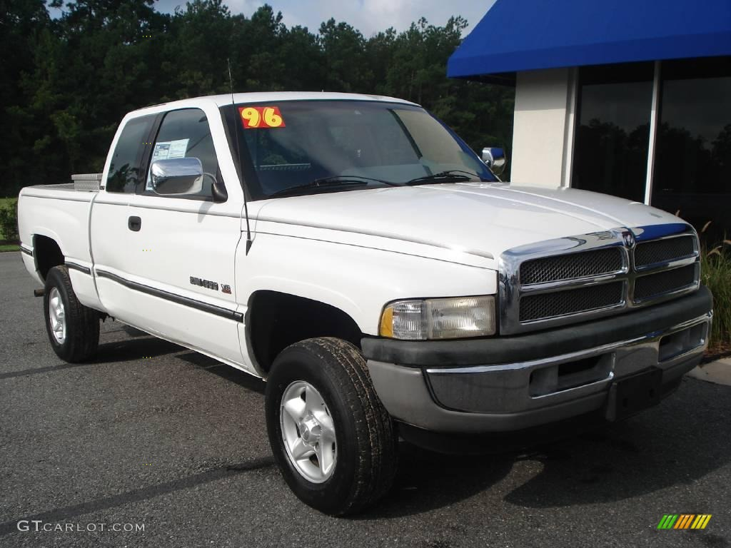1996 bright white dodge ram 1500 laramie extended cab 4x4 14161715 photo 3. Black Bedroom Furniture Sets. Home Design Ideas