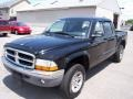 2004 Black Dodge Dakota SLT Quad Cab 4x4  photo #1