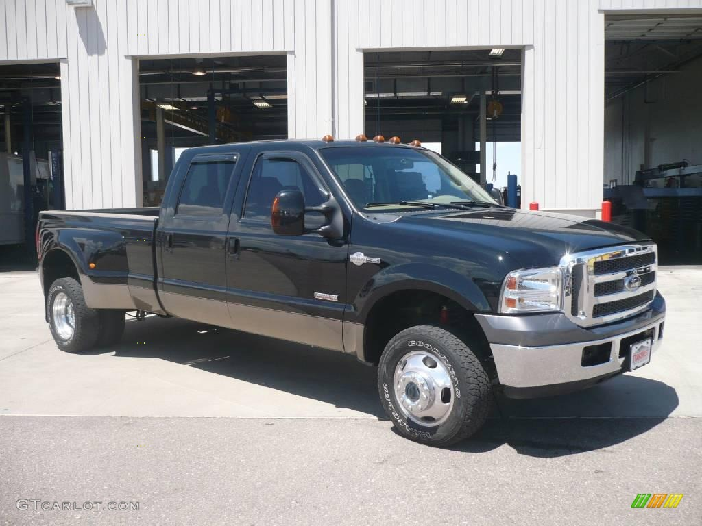 2007 black ford f350 super duty king ranch crew cab 4x4. Black Bedroom Furniture Sets. Home Design Ideas