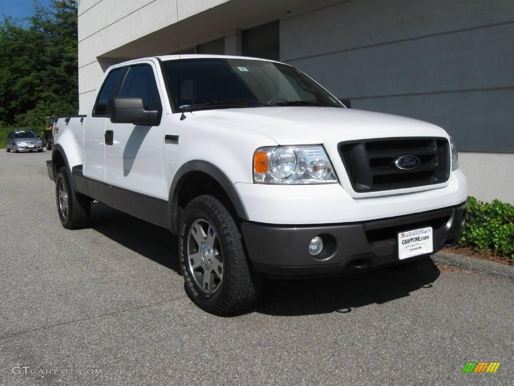 2007 f150 fx4 supercab 4x4 oxford white black medium flint photo 1