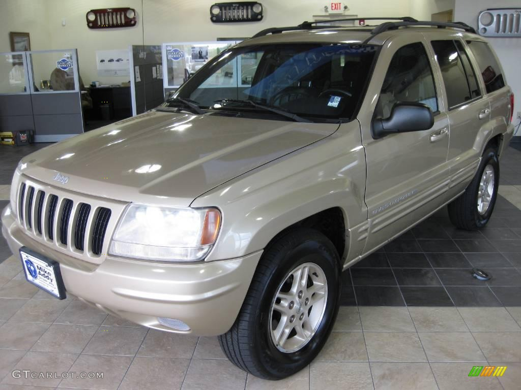 1999 champagne pearl jeep grand cherokee limited 4x4 #14158332