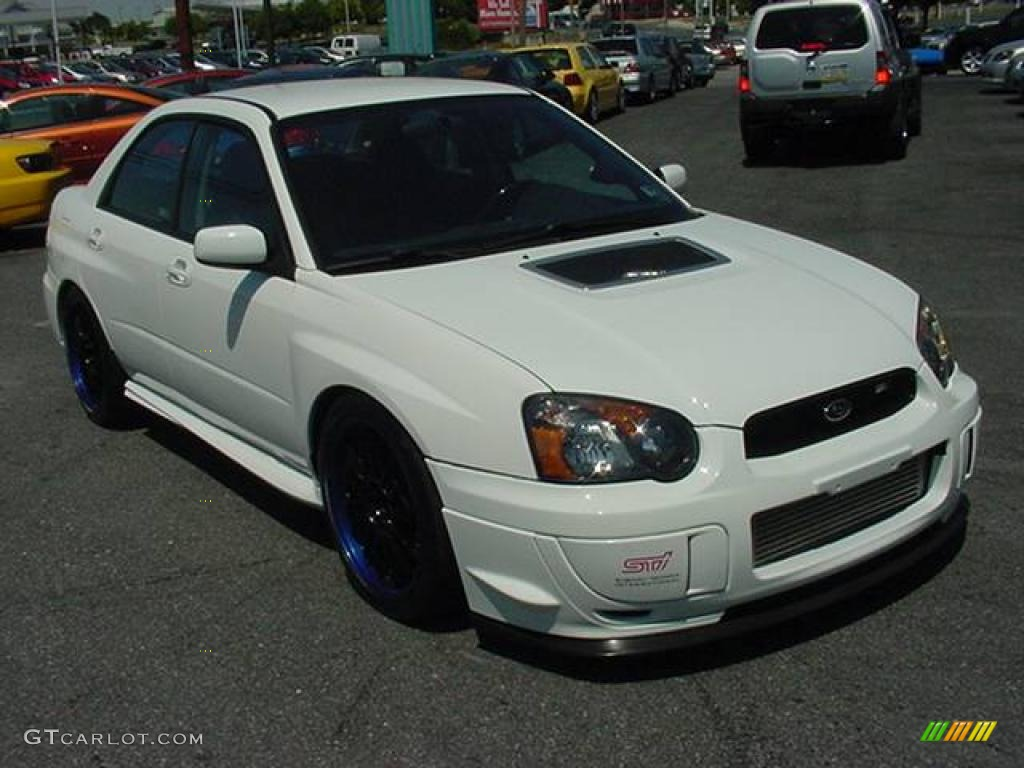 2004 Aspen White Subaru Impreza Wrx Sti 14164432