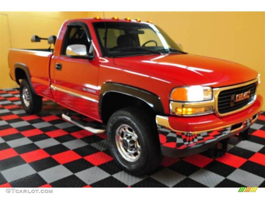2000 fire red gmc sierra 2500 slt regular cab 4x4 14224169 gtcarlot com car color galleries gtcarlot com