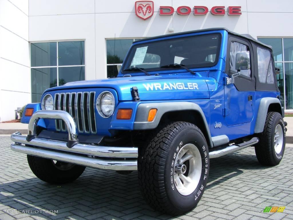 1999 intense blue pearlcoat jeep wrangler sport 4x4. Black Bedroom Furniture Sets. Home Design Ideas