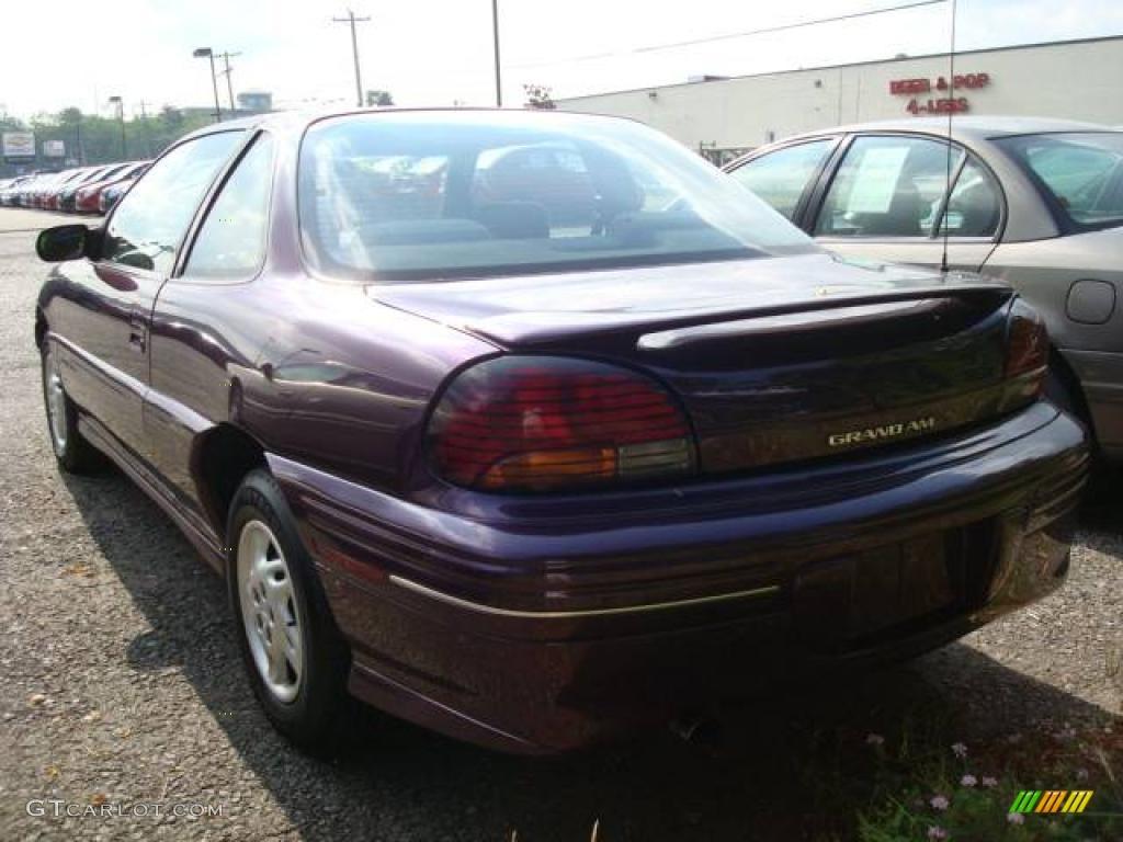 1998 grand am se coupe medium purple metallic graphite photo 4
