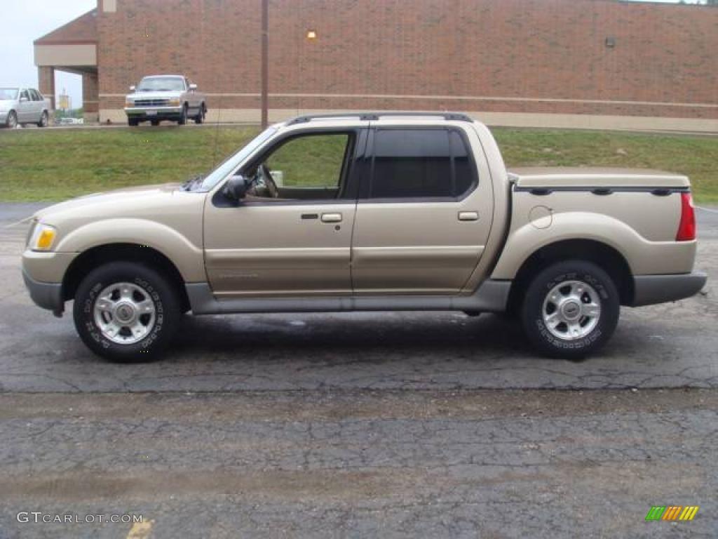 2001 Harvest Gold Metallic Ford Explorer Sport Trac 14300538