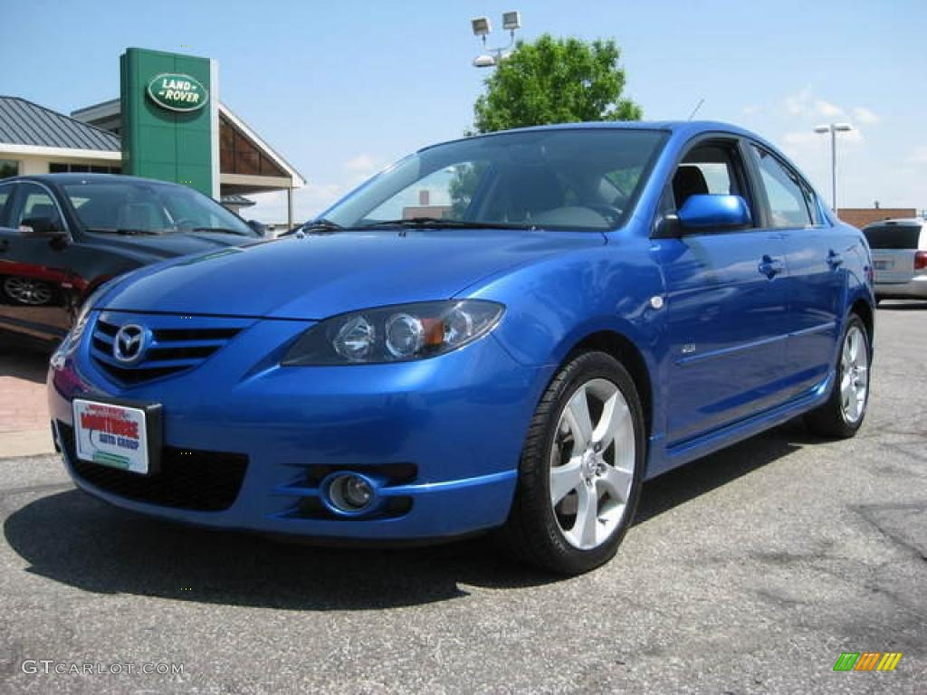 2006 winning blue metallic mazda mazda3 s touring sedan. Black Bedroom Furniture Sets. Home Design Ideas