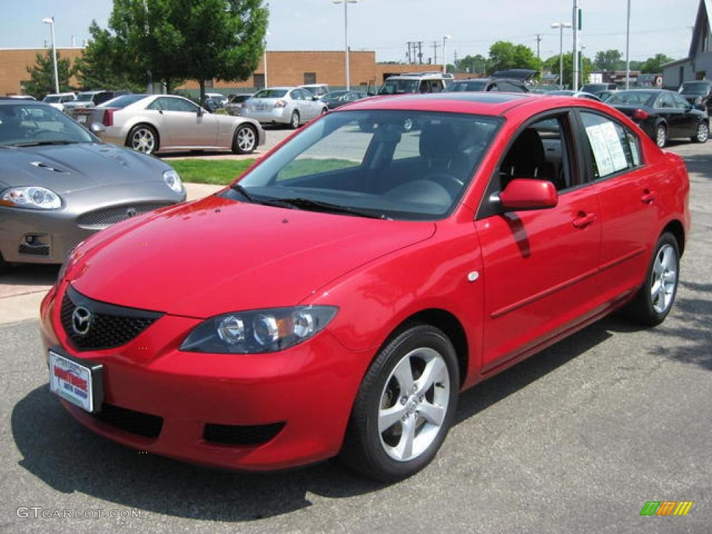 2006 velocity red mica mazda mazda3 i sedan 14292800. Black Bedroom Furniture Sets. Home Design Ideas