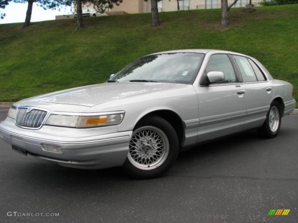 1997 silver frost metallic mercury grand marquis ls 14313206