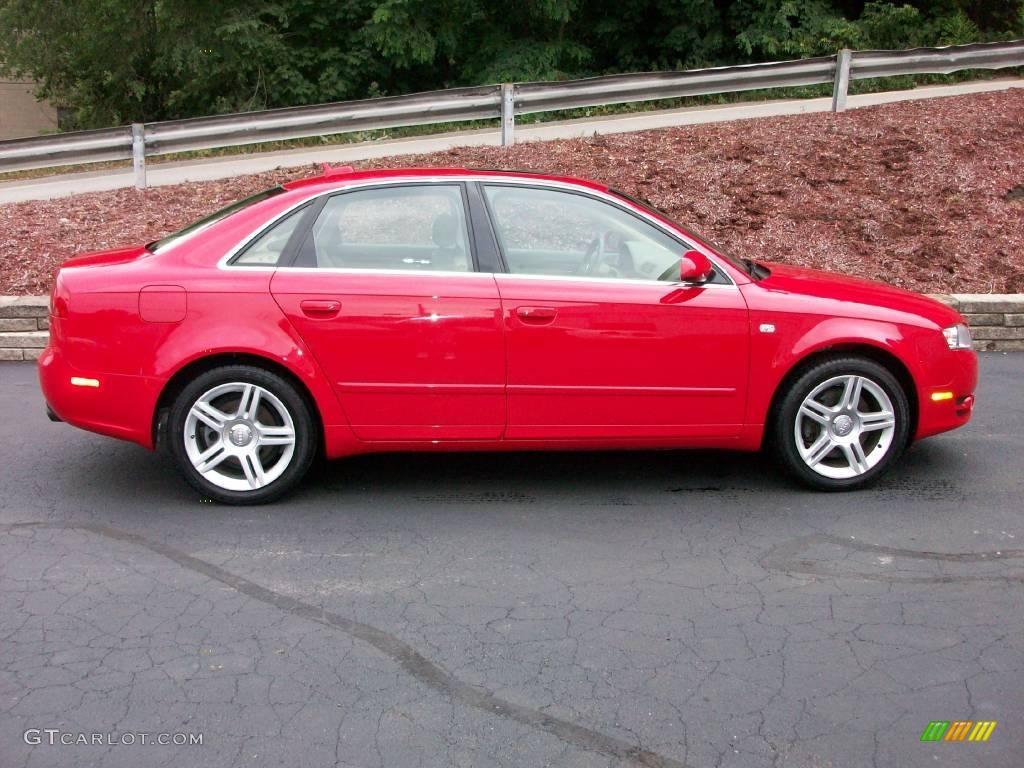2006 A4 2 0t Quattro Sedan Brilliant Red Beige Photo 6