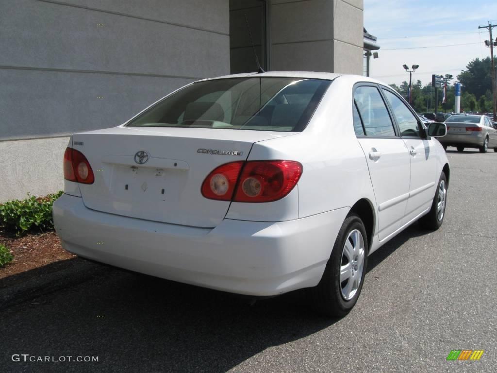 2008 Super White Toyota Corolla Le 14366458 Photo 3