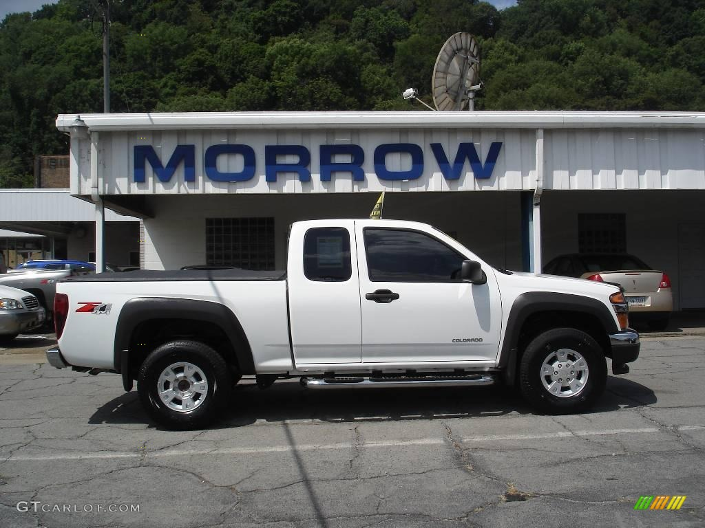 2005 colorado z71 extended cab 4x4 summit white sport pewter photo 1