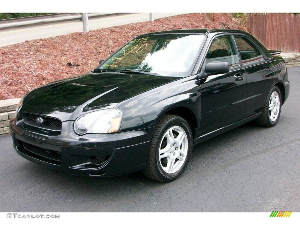 2005 obsidian black pearl subaru impreza 2.5 rs sedan #14356711