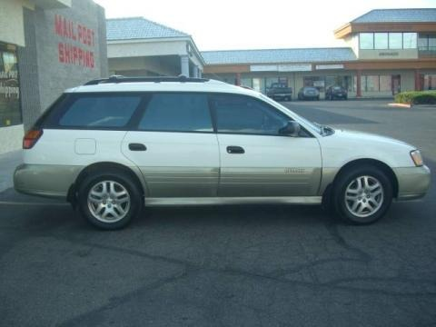 2000 White Birch Subaru Outback Wagon