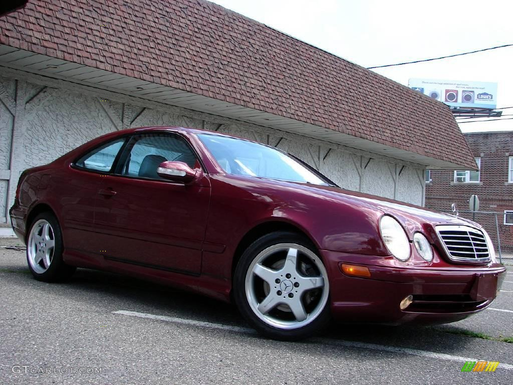 2002 bordeaux red metallic mercedes benz clk 430 coupe 14423887 car color. Black Bedroom Furniture Sets. Home Design Ideas