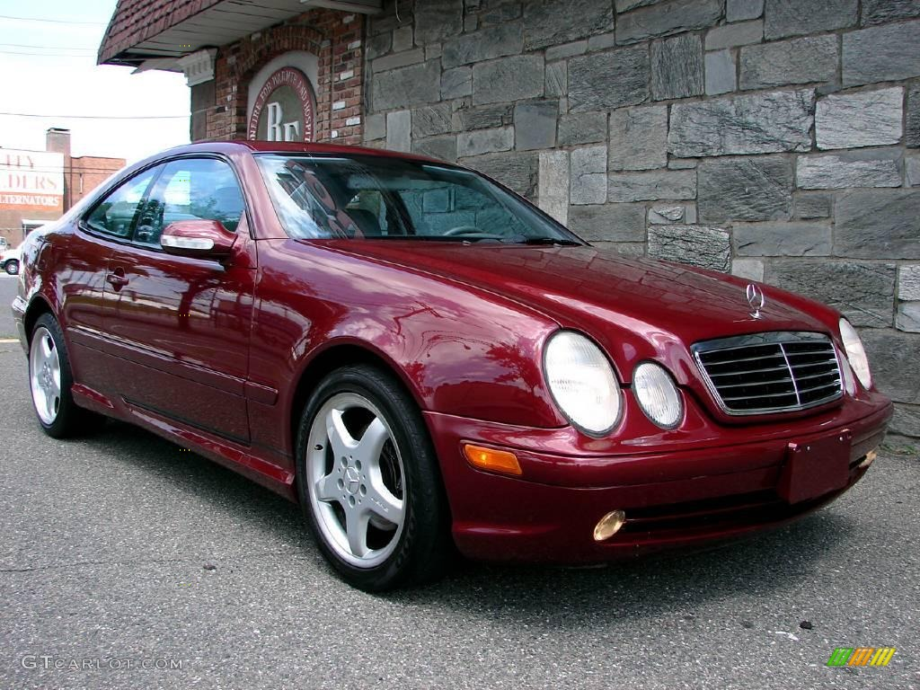 2002 bordeaux red metallic mercedes benz clk 430 coupe for Mercedes benz clk 2002