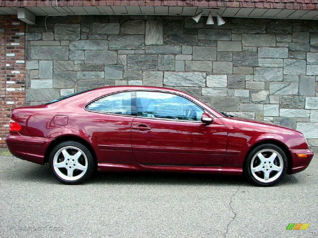 bordeaux red metallic 2002 mercedes benz clk 430 coupe exterior photo 14440473. Black Bedroom Furniture Sets. Home Design Ideas