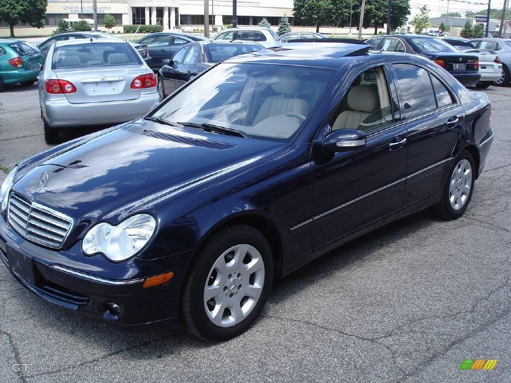 2005 midnight blue mercedes benz c 240 4matic sedan for Mercedes benz color