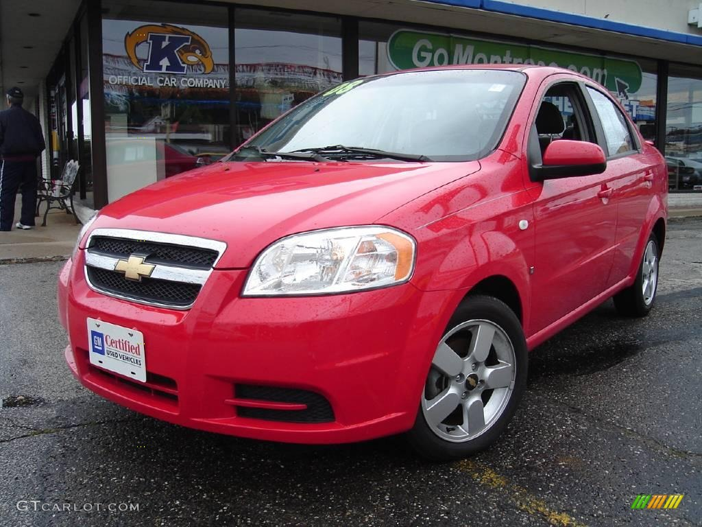 2008 Victory Red Chevrolet Aveo LS Sedan 14494013  GTCarLotcom
