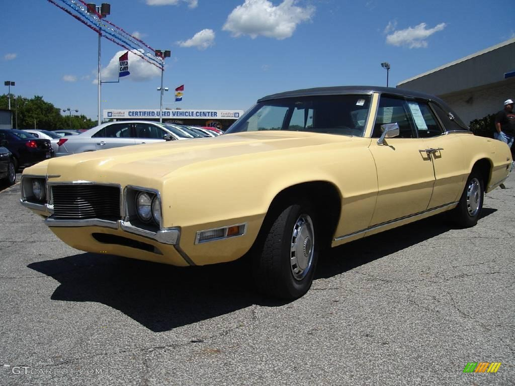 1970 Yellow Ford Thunderbird Landau Sedan 14493997 Photo 7 Specs Black
