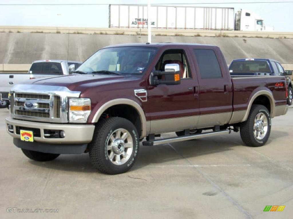 2009 royal red metallic ford f250 super duty king ranch crew cab 4x4 1432933. Black Bedroom Furniture Sets. Home Design Ideas