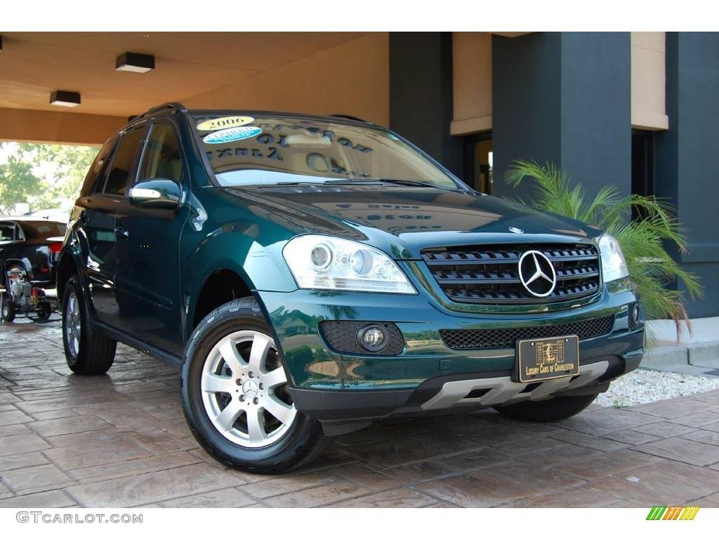 2006 everest green metallic mercedes benz ml 350 4matic for Mercedes benz green