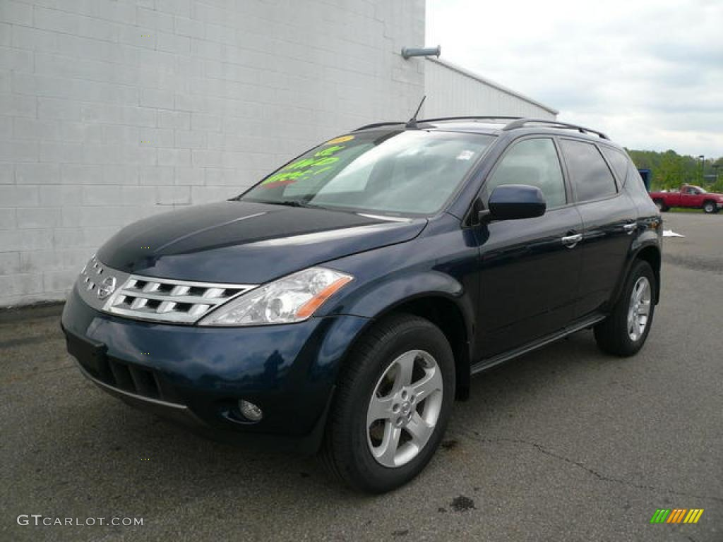 2005 midnight blue pearl nissan murano sl awd 14508350 car color galleries. Black Bedroom Furniture Sets. Home Design Ideas